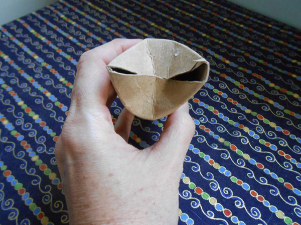 A homemade cat toy.