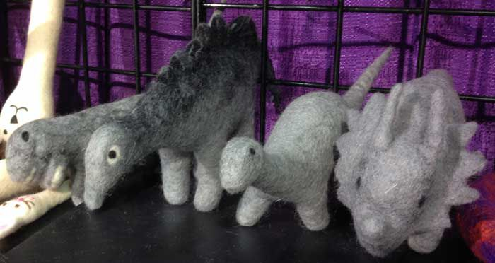 I would totally film my cats going to war with these woolly dinosaurs.