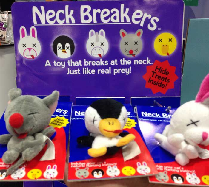 No real animals were harmed in the making of these toys.