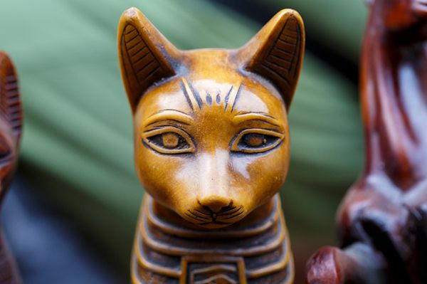 Cat god statute from ancient Egypt.