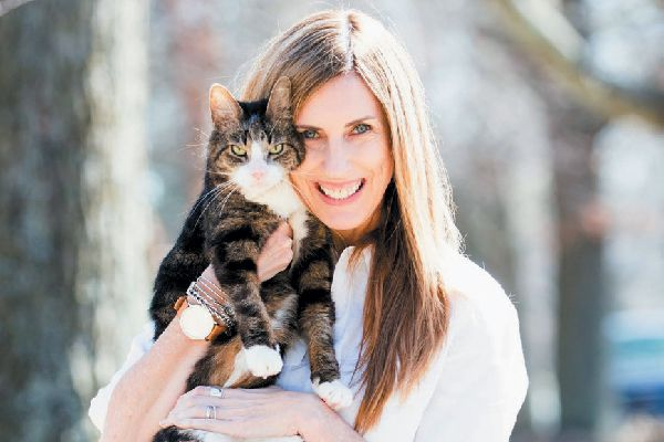 Brodie Fund creator Sally Williams with the cat who inspired her.