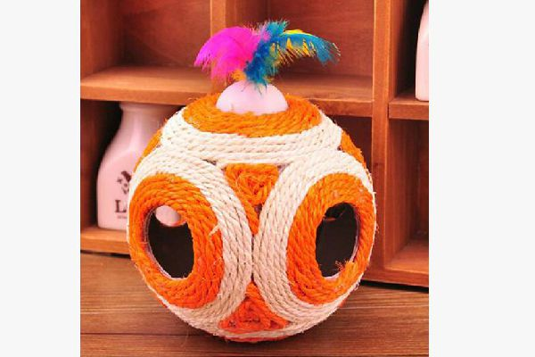 Cat Toy Feather Sisal Rope Balls Scratcher Rattle Ball, The Meow Shop ($4.99).