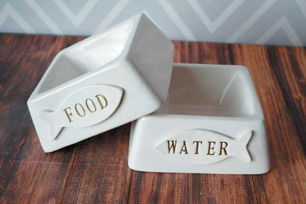 Personalized Cat Bowl by Susabella.